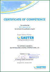 CERTIFICATE OF COMPETENCE This certifies that NPO Uniservice Ltd has achieved the qualification program EXPERT SOLUTION PARTNER SAUTER
